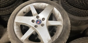 "Saab 9.3 OE 17"" alloy wheels and michelin tires"