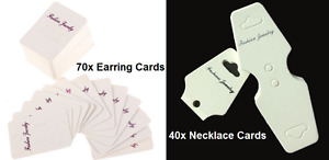**BRAND NEW** 70x earring display cards + 40x necklace cards Kitchener / Waterloo Kitchener Area image 1