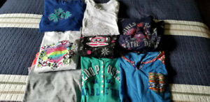 Girls long sleeve t-shirts Size 12 - 14