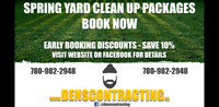 SPRING YARD CLEAN UPS, EARLY BOOKING DISCOUNTS