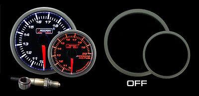 Wideband Air Fuel Ratio Gauge w/ Bosch O2 sensor Amber/White AFR kit Prosport