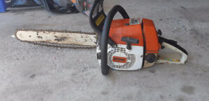 "Stihl 034 Gas Chainsaw. 18"" Bar. 2 stroke. Runs excellent. $350"