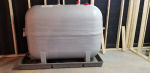 Oil Tank 200 Gallon Fiberglass with Spill Tray, and Oil Furnace