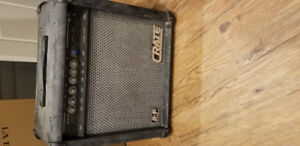 20 w Crate amp with delay/ reverve, chorus, and flanger modes