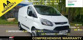 2018 Ford Transit Custom 2.0 290 L1 H1, 1 OWNER, FSH , 50K, EU 6-- 1 OWNER, FSH