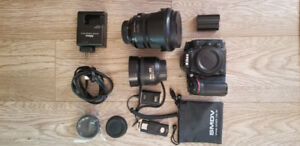 Sigma 24-105, Nikkor 35mm, and Nikon D7100 for sale!