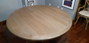 """French Urn 60"""" Round Oak Dining Table from Restoration Hardware"""