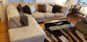Excellent Condition L Shaped Sectional Couch Set BRICK