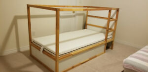 Ikea Reversible bed(KURA) with mattress