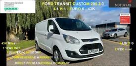2017 Ford Transit Custom 2.0 TDCi 290 Limited L2 H1 5dr ,AC, EU6 PANEL VAN Diese