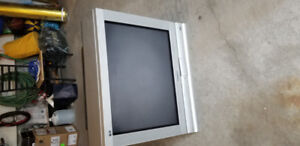 "32 "" Panasonic flat screen TV with 2 remote controls"