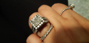 4.00 total carat wt engagement ring and wedding band set