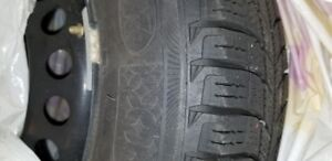 Winter Snow Tires with Steel Wheels - Michelin X-Ice