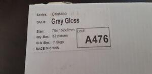 Grey Gloss Glass Tile