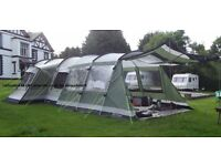 Outwell Montana 6 tent + front extension + footprint + carpet excellent condition