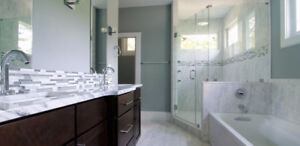 Shower Walls, Shower Bases, Vanity Tops.  Grout free bathrooms.