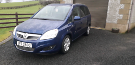 2010 Vauxhall Zafira 1.7 CDTi, diesel, 7 seater, low miles, blue,