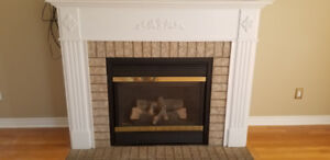 Beautiful Gas Fire place with Mantel for sell