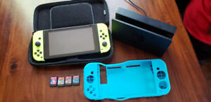 Nintendo Switch, 5 games, 2 sets of controllers + 1 controller