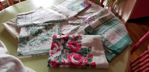 Seven Vintage Luncheon Tablecloths