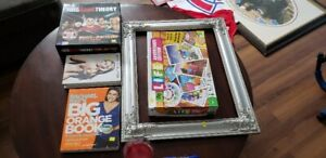 Moving sale: Frame, Board Game, books