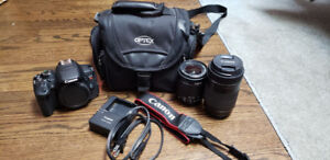 Canon T5I with two lenses, case and strap