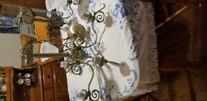 Brass chandelier lights