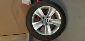 4 Original BMW rims and Dunlop runflat winter tires 225 / 55 R17
