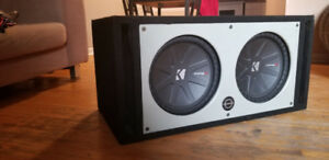 "2 Kicker 12"" comp R full sound system"