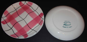 4 small plates HYCROFT Medicine Hat CALICO design