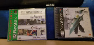 FFVII and Final Fantasy Chronicles (PS1) $40