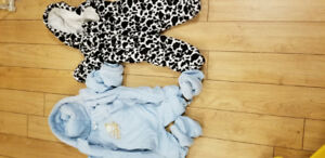 0-3 Months &  3-6 months Baby boy snow suits :)