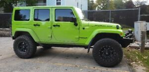 Rare Gecko Green Rubicon 2013 Jeep Wrangler **New Motor!**