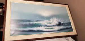 Seascape original painting, ready to hang
