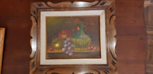 "Beautiful vintage framed oil painting 10 "" by 12"" inside"