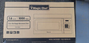 New Magic Chef 1.6 Cu. ft. Over-The-Range Microwave Oven