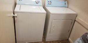 Washer and Dryer set also As is Show Cases 4pc set for store