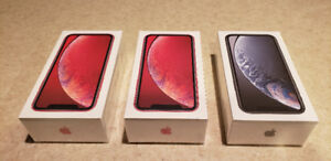 3 iPhone XR 64GB for sale: 2 Red, 1 Black $875 each