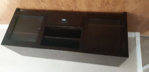 Solid wood black TV stand