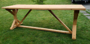 Rustic Dining Table Indoor outdoor use. Any length