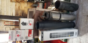 Sears pot belly wood stove and double walled pipe
