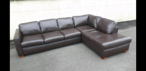 ITALSOFA - Leather section sofa