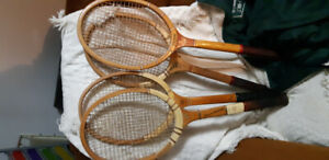 Vintage tennis racquets  4 available