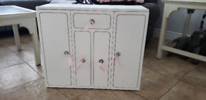 Doll furnuture,  Doll wooden closet,  accessories Priced to sell