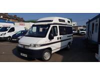 2000 X Reg Peugeot BOXER 270 SWB Auto Sleeper 4 Berth Campervan/Motorhome