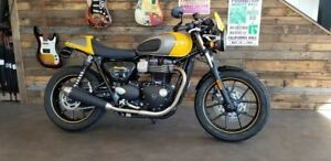 2017 Triumph Street Cup Racing Yellow/Silver Ice