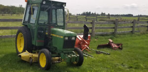 John Deere 950 Tractor,  6ft mower, Snow Blower and Back Blade