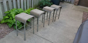 OUTDOOR BAR-HEIGHT STOOLS (4)