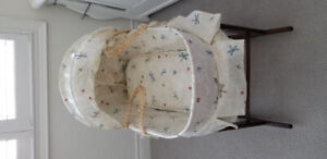 EUC Moses basket with canopy and Jolly Jumper stand