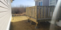 Experienced deck and fence builder
